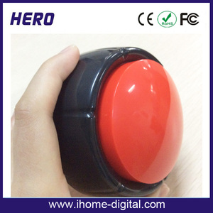 Customized logo pop sound box led push button light door gift for christmas