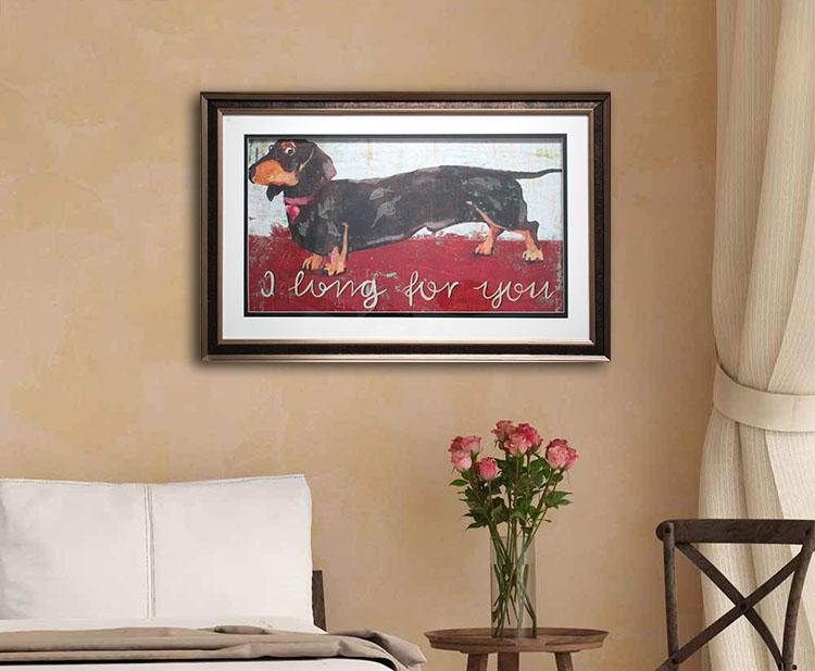 Gerahmte Bilder Wohnzimmer ~ Nette dachs hound gerahmte leinwand bilder grafik hund wand kunst