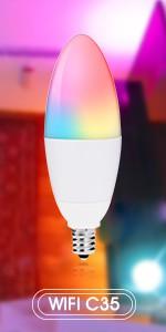 10 Вт 14 Вт BR30 RGBW Wifi туя умная Светодиодная лампа