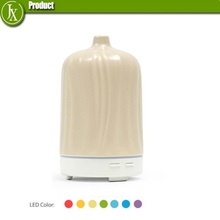 100ml Porcelain Aroma Humidifier with colorful LED Ceramic Ultrasonic Essential Oil Diffuser Home Aroma Diffuser