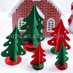 Non-woven felt customized christmas tree ornament /christmas ornaments india 2017