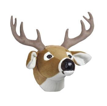 christmas moose head wall mounted stuffed animal head - Christmas Moose