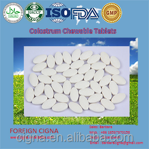 Bovine Colostrum Milk Powder 1000mg Chewable Tablet Pills
