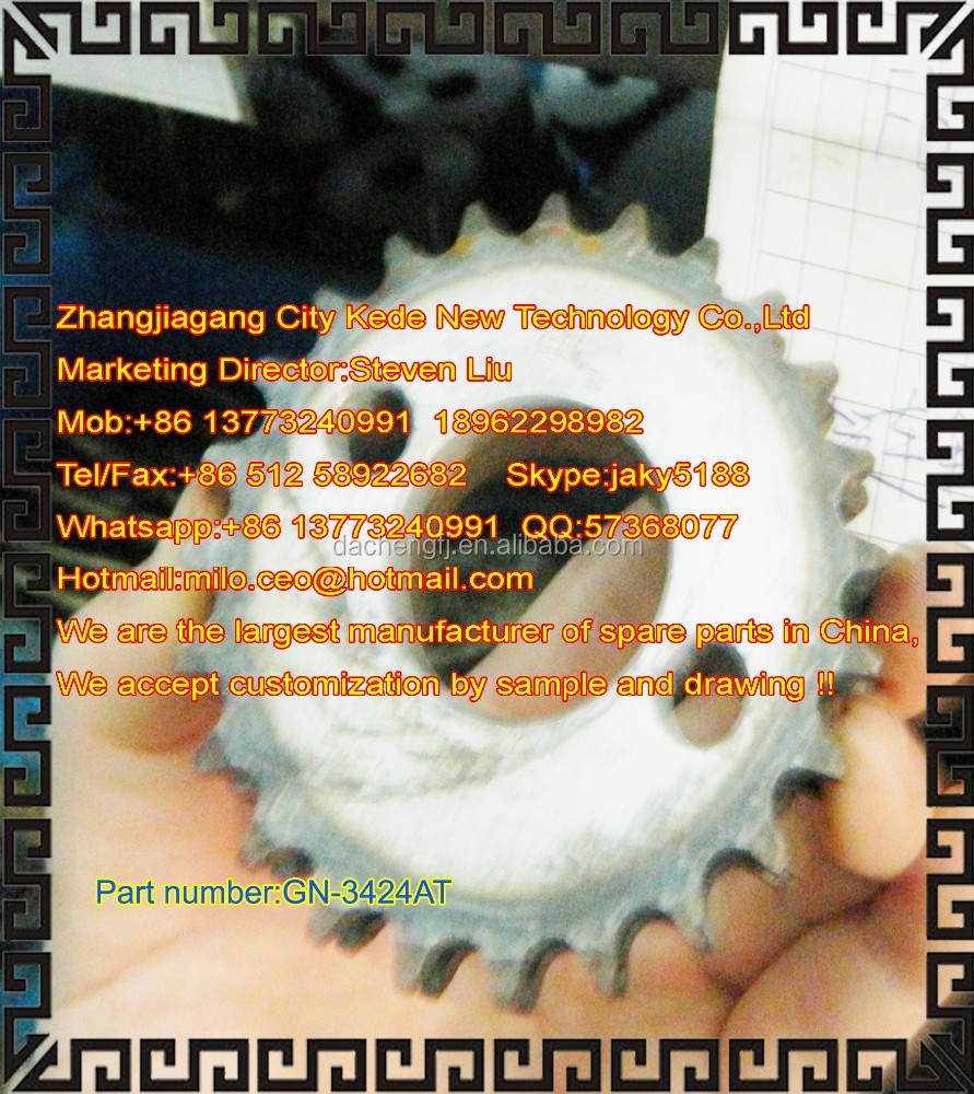 Spear parts for gill machine--- -Double - row chain wheel 24 ----GN3424AT