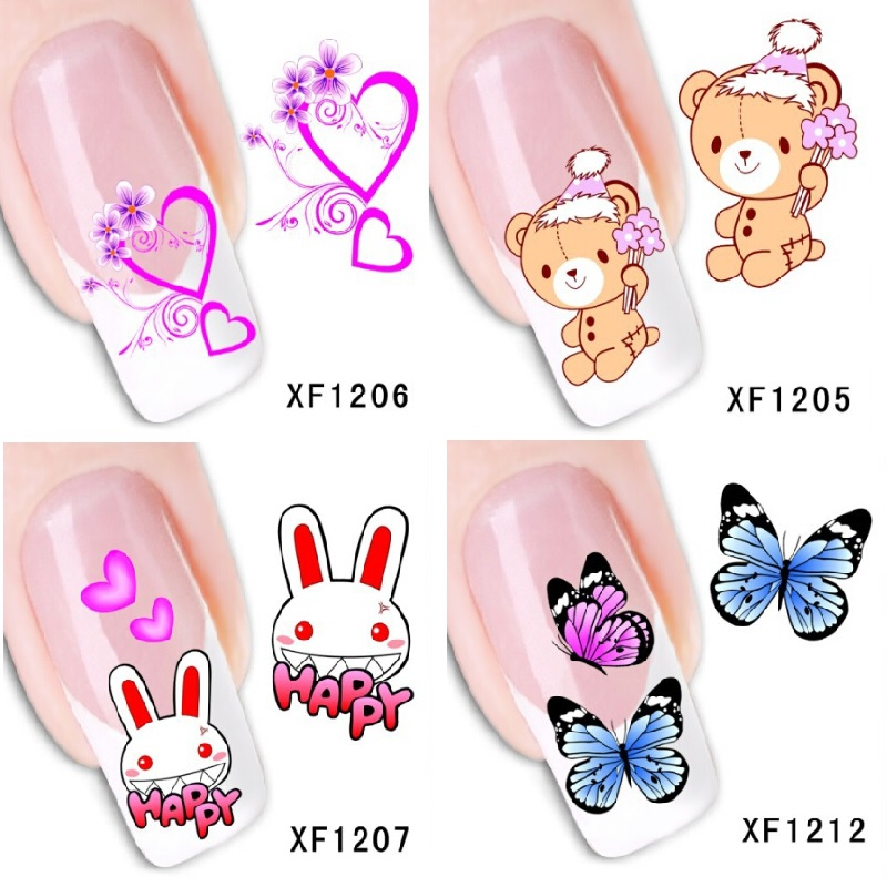 Wedding Love Nail stickers nail art decorations pegatinas unas reine des neiges finger nail stickers DIY