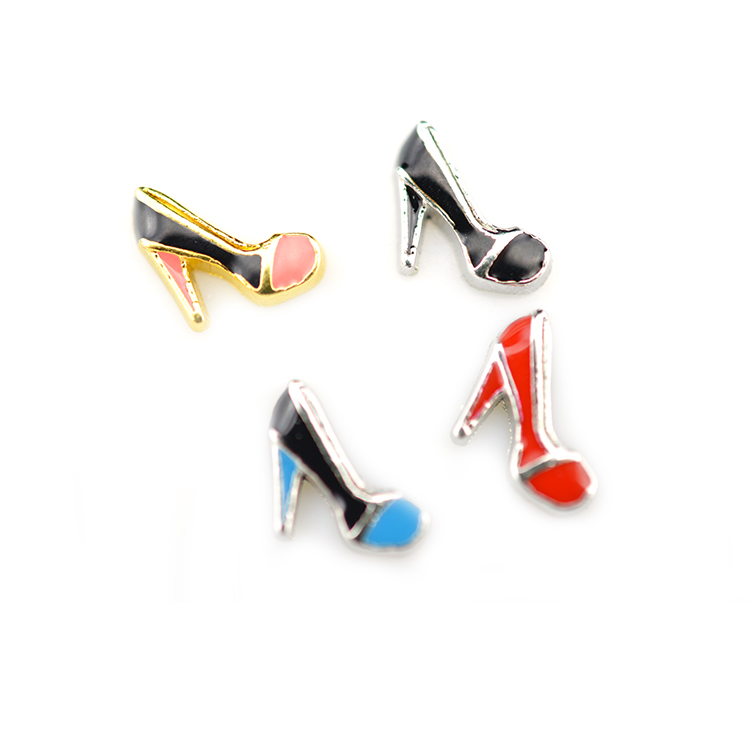 Enamel High Heel shoes DIY Alloy Floating <strong>Charms</strong> Fit For Magnetic Memory Glass Living Locket Fashion Jewelrys