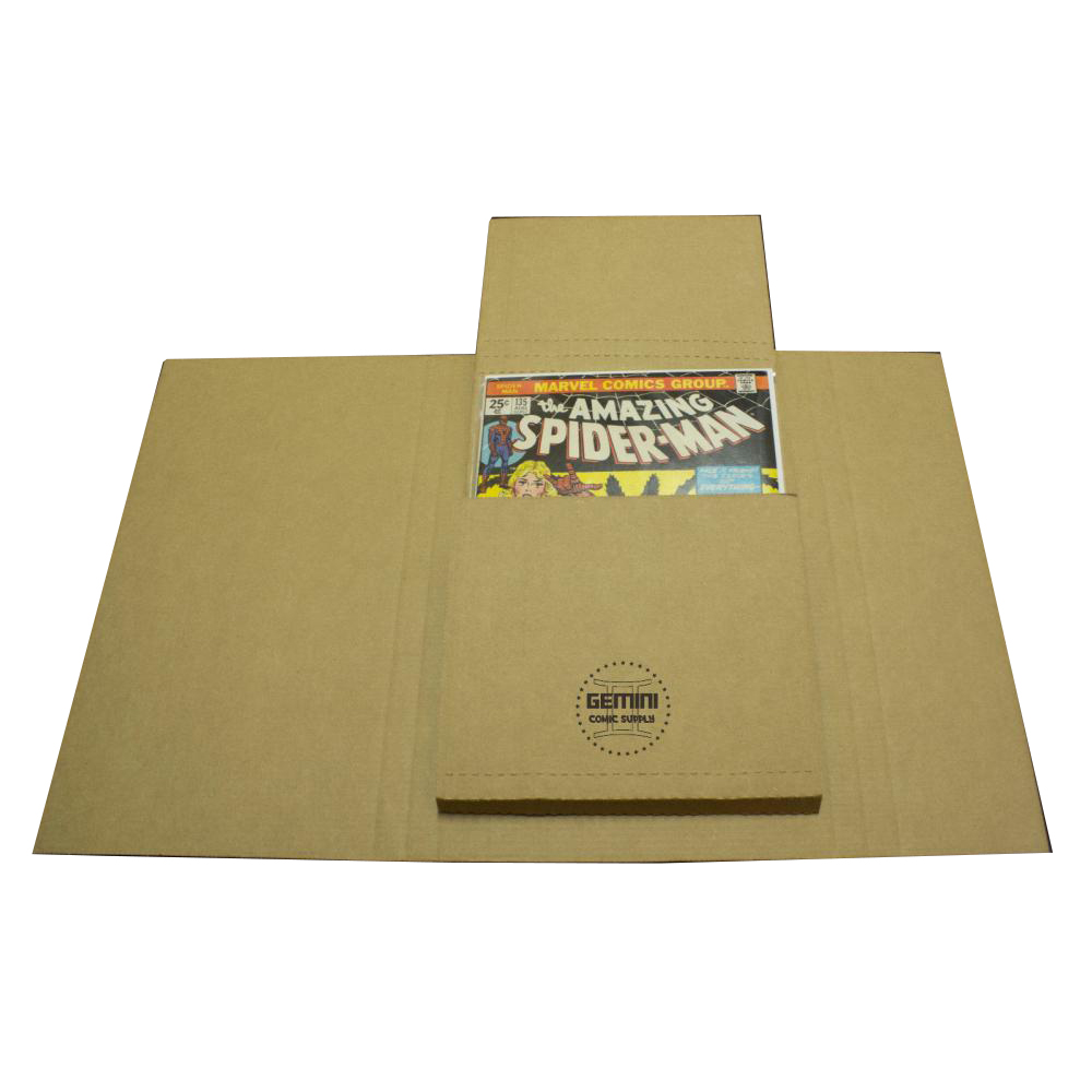Flat mailer cardboard packaging book mailing box with perforate tear strip and tape
