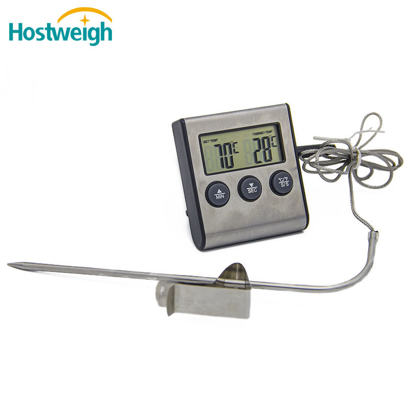 digital food cooking thermometer & bbq grill thermometer with timer and magnet