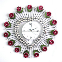 2015 factory price custom decorative modern electric wall clock