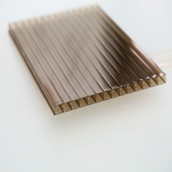 8mm tea color Sabic / Bayer raw material hollow polycarboante sheet/ Lexan embossed polycarbonate sheet solid