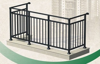 High Security Outdoor Aluminum Stainless Steel Gl Balcony Railing Designs Galss Rail