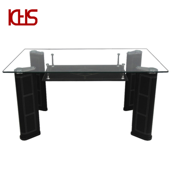 6mm Frosted White Tempered Gl Rectangular Top Dining Tables Sets