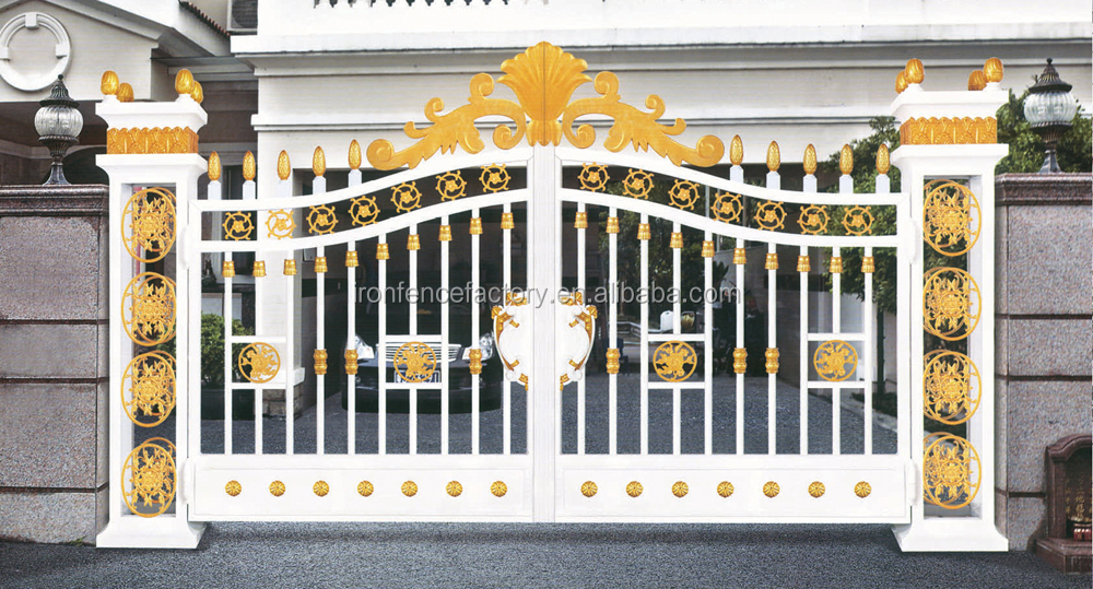 2016 Modern High Quality House Aluminum Main Gate Designs/sliding ...