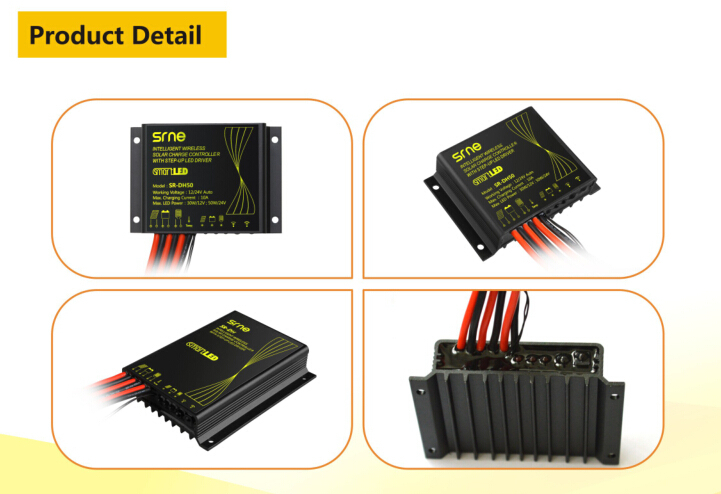 10a Wireless Remote Control pwm solar panel battery charger controller