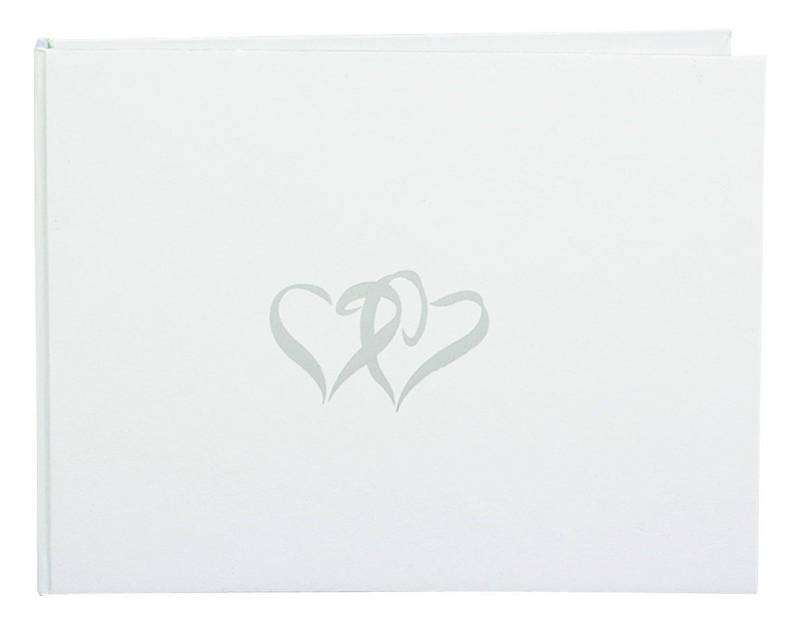 Hortense B. Hewitt Wedding Accessories White Linked Heart Guest Book