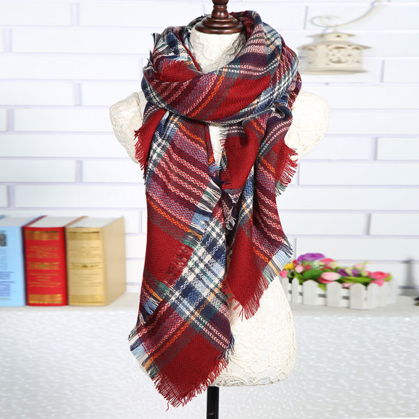 2016 winter scarf ladies multifunction oversized scarf women shawls plaid scarves for women