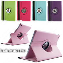 Tablet Case For iPad 2 3 4 Case 360 Rotation PU Leather case for Apple iPad 2 3 4 Smart cover ipad flip case with stand function