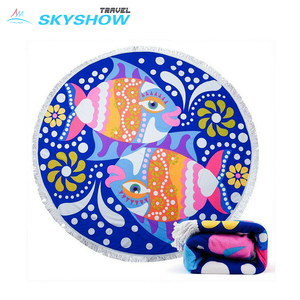 Large Printed China Round Beach Towels Wholesale