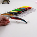1Pcs Swinging Crank bait Minnow 16cm 16 8g 10 Colors swim Hard bait Artificial Bait Fish