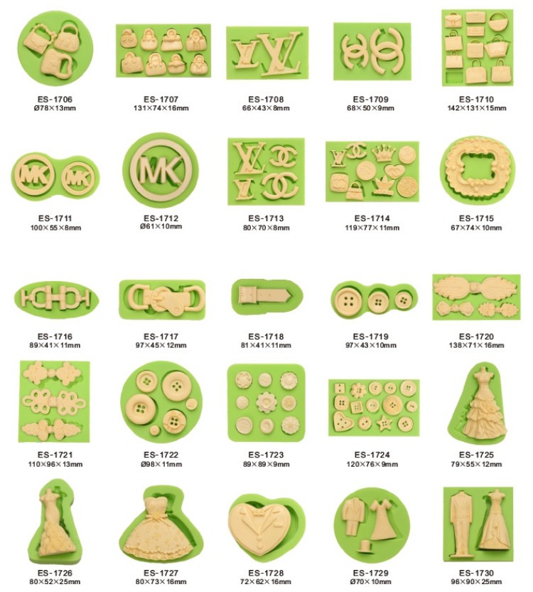 Women Series Fondant Mould Silicone Molds for Cake Decorating