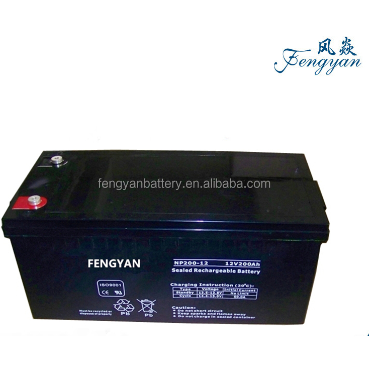 Deep cycle 12v 200ah lead crystal battery