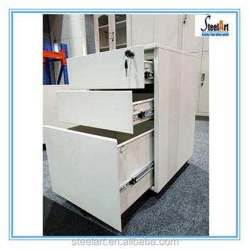 File Storage Metal Under Desk Movable Drawer Cabinet