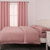 Classic blackout polyester pink fabric curtain home arabic curtains for home
