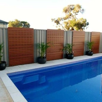 Cheap composite wooden fence panels for swimming pools - Recinzione piscina legno ...