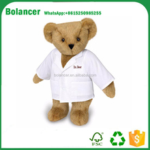 Hot Sale DR.Bear With Doctor Cloth Plush Stuffed Soft Toy