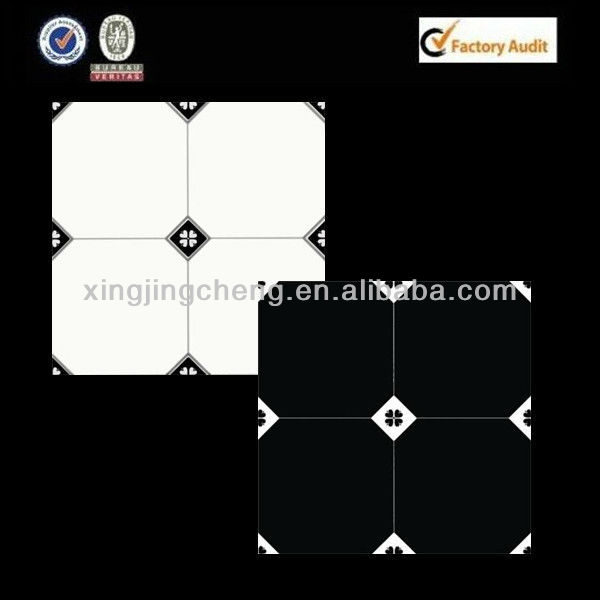 newest pattern ceramic flooring black and white tile