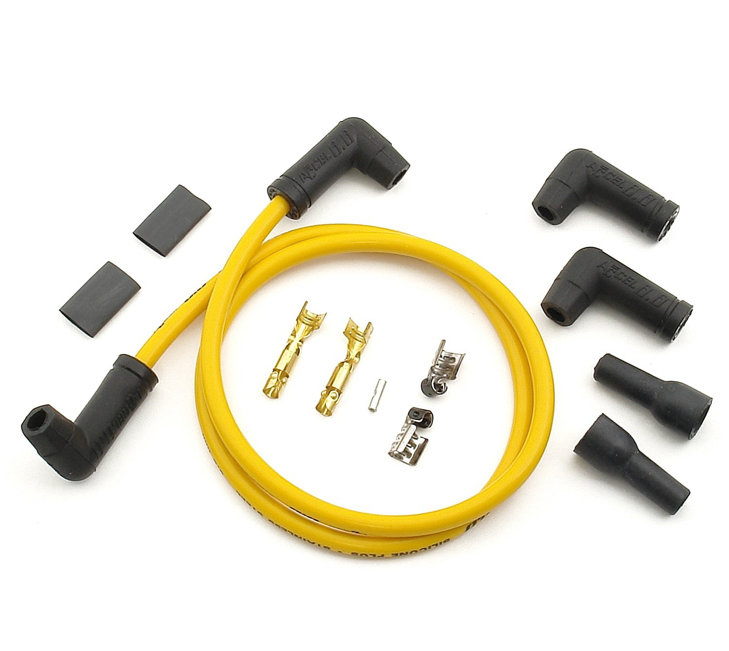 Buy ACCEL 170085 8.8mm Yellow Universal Spark Plug Wire Set in Cheap ...