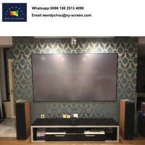HD Anti-light Black Diamond projector screen on daylight room