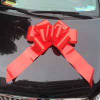Manufacture large wedding decorative pom pom pull bow for car