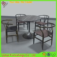 (SP-CT749) Uptop commercial black metal hotel table and chairs