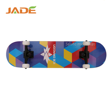 Wholesale 31 inch complete wooden longboard skate board with PU wheels