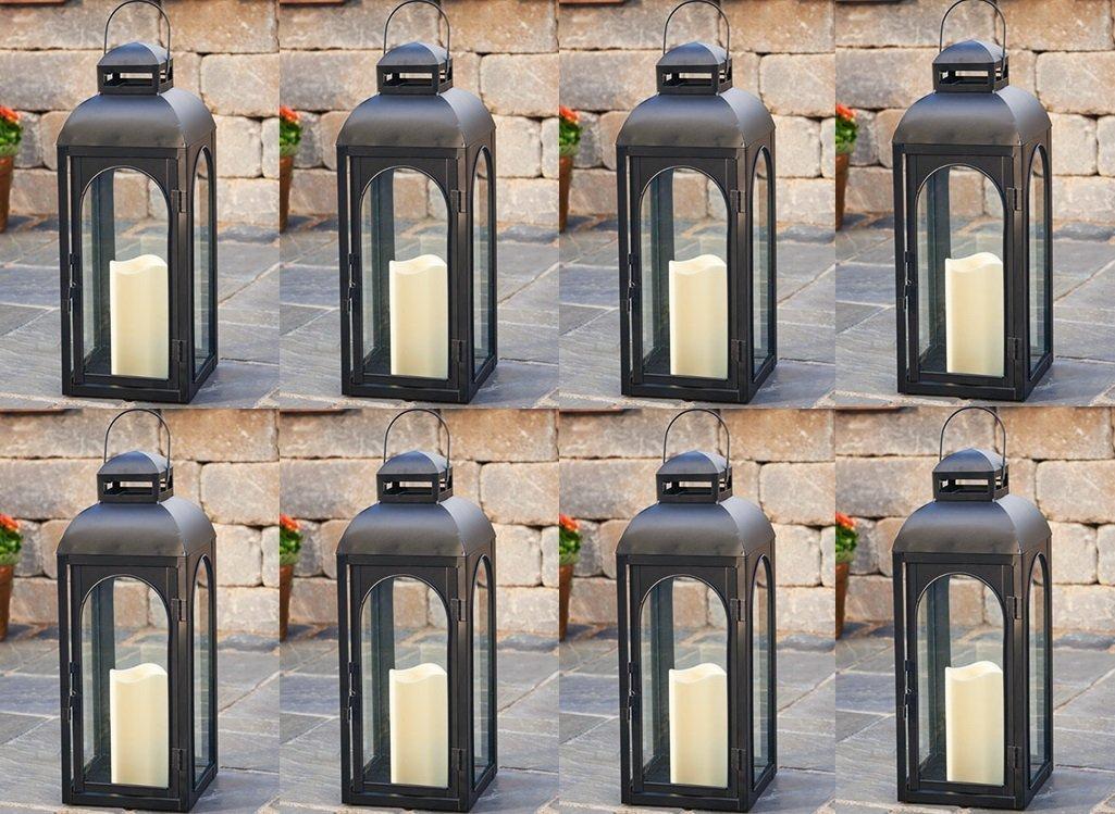"Smart Solar 84045-LC 17"" Matte Black Moreno LED Candle Lantern"
