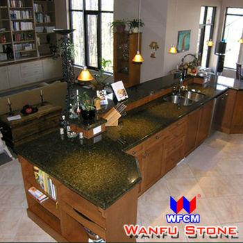 Verde Ubatuba Granitie Kitchen Countertop Custom Beveled