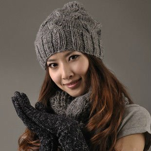 7bf81fad6de Hand Knit Cable Stitch Winter Beanie Hat - Buy Pom Pom Knitted ...