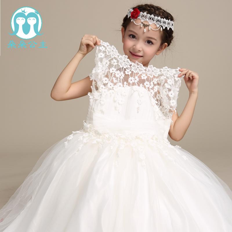 último Blanco Niña De Las Flores Tobillo Longitud Vestidos De Encaje De Las Niñas Vestido De Fiesta De Cumpleañosropa Al Por Mayor De Vestidos De