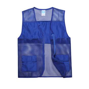 Hot sale breathable 9 colors black mesh safety vest with pockets