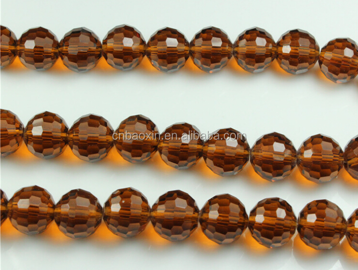 Wholesale Darker Amber Crystal Rondelle Beads