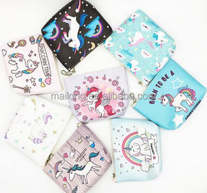 2018 unicorn pattern change purse key bag han edition fashion children's PU coin purse bag wholesale PN6288