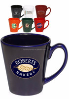 [ZIBO HAODE CERAMICS]OEM glazed color printed ceramic coffee mug sets with customized logo promotional mug