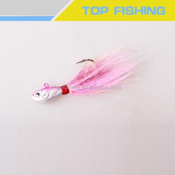 Superior Quality Bucktail Jig Minnow Jig For Fluke Fish - Buy Bucktail Jigs  Saltwater Teaser,Bucktail Bait Lead Jig For Bass Fishing Deer Hair