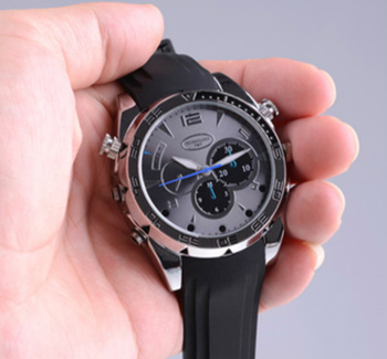 Full 1080P Indian Hidden Camera Video IR Night Vision Watch for Men With 16G Memory Card, Waterproof Wrist Spy Camera Watch