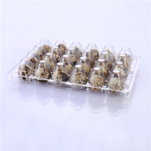 Free Samples 12 24 plastic quail egg cartons top quality quail egg tray packaging box
