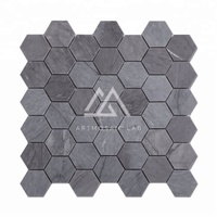 Artmosaic Lab Best Quality Latin Blue Hexagon Tile Marble Mosaic Tiles
