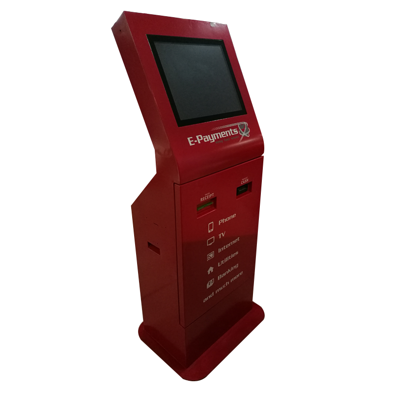 New Design 19 Inch Payment Terminal Kiosk With Ticket Dispenser And Card Reader