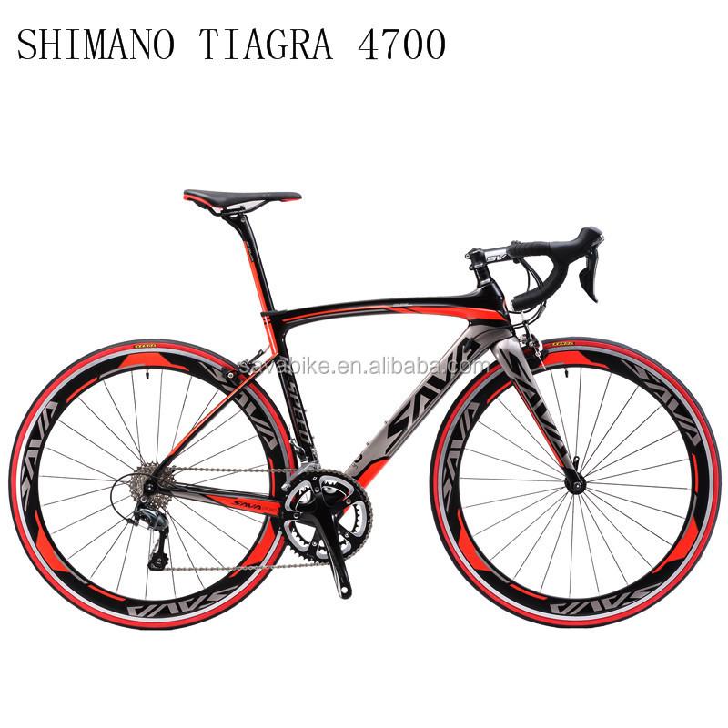 SAVA China bicycle factory direct sell carbon road bike high quality 4700 group set, Grey red;black orange;black blue;grey