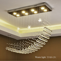 chandelier pendant lighting crystal Drop ceiling hanging Lamp for home hotel ETL60432